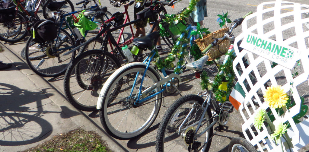 Bikes on St Patrick's Day